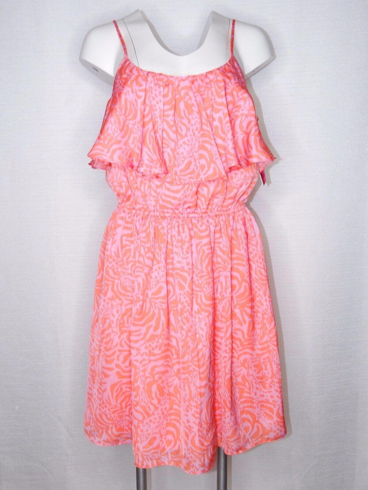 Lilly Pulitzer for Target Dress Medium Fit S-M Neon Rosa & Orange Girafeeeye