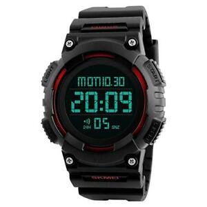 Digital-Sports-Military-Watch-LED-Backlight-50m-Water-Resistant-amp-Shockproof-New