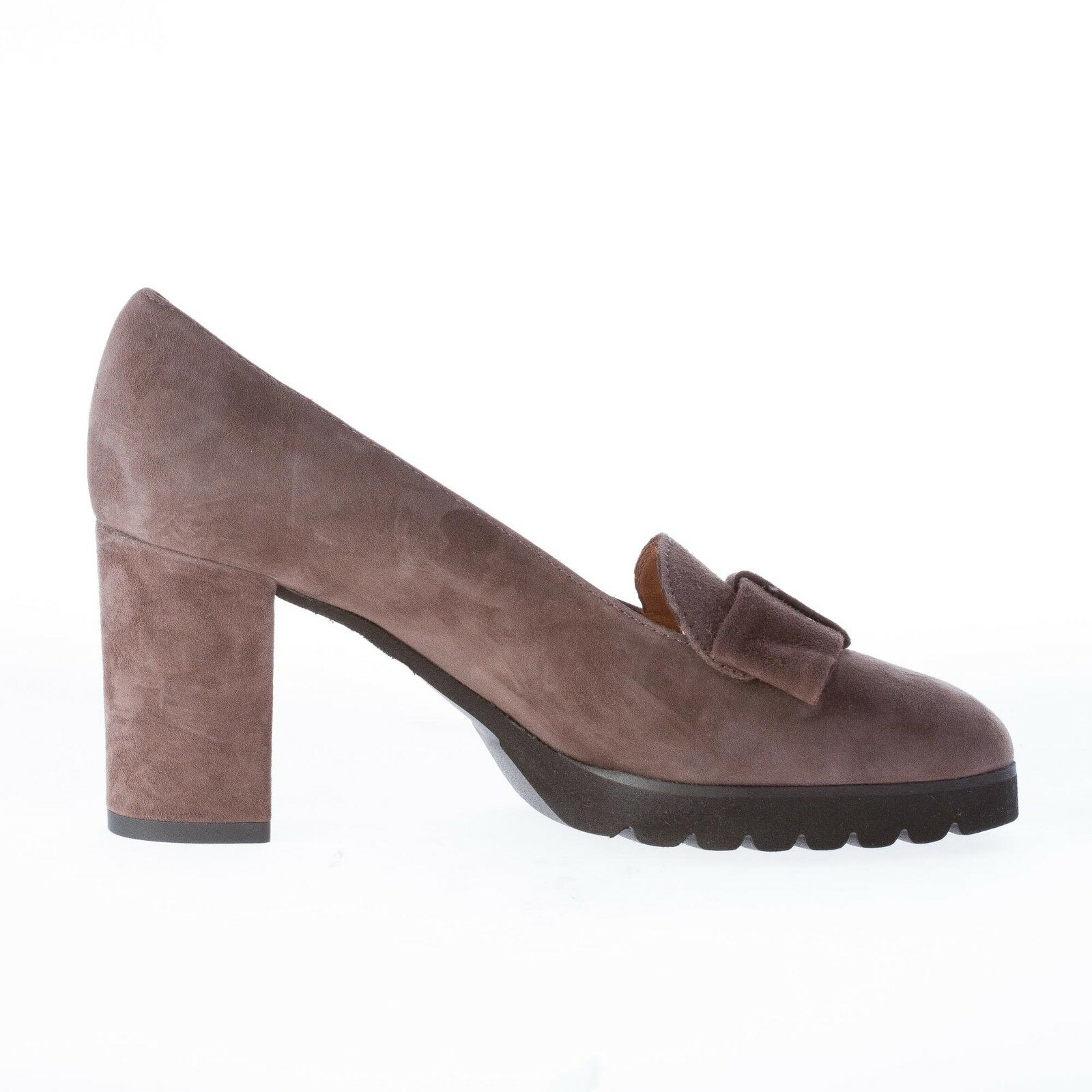 IL BORGO FIRENZE damen schuhe women shoes made in Italy Brown suede bow pump