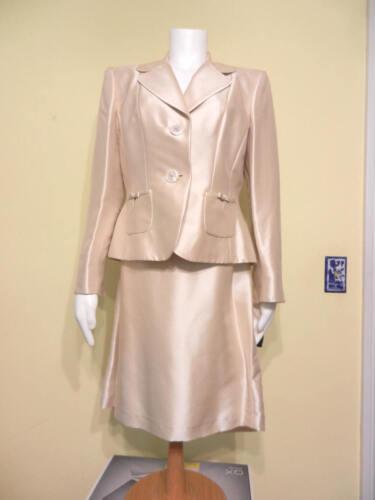 abito avorio e gonna Tahari 290 Petite 12 nuova seta in da color Elegante giacca W7qng0FwxC