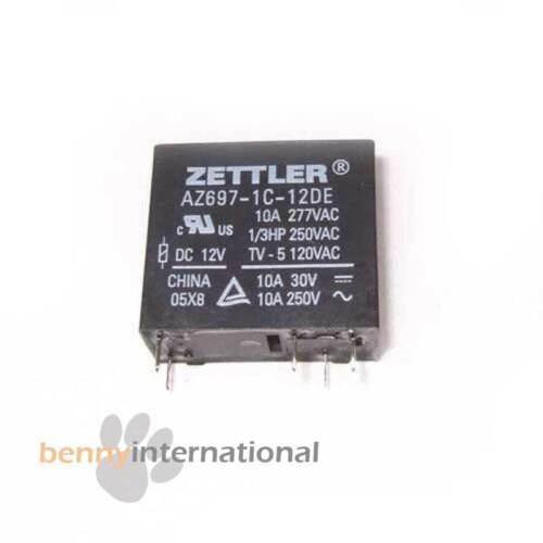 AUS STOCK 12V 10A RELAY ZETTLER  SPDT Switch Power PCB 250V