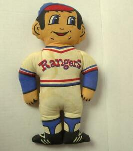 Texas-Rangers-MLB-Baseball-Player-Stuffed-Doll-Game-Promo-Item-1970-039-s-Vintage