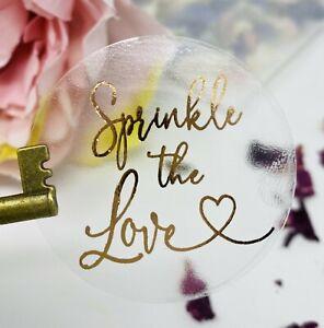 Sprinkle the Love Happy Tears Stickers Glassine Bag set foil Rose Gold,Silver 10