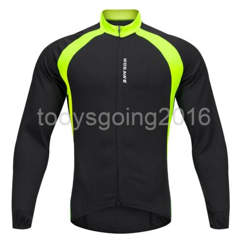 Unisex Long Sleeve Cycling Jerseys Bike Bicycle Clothing Winter Jackets Tops