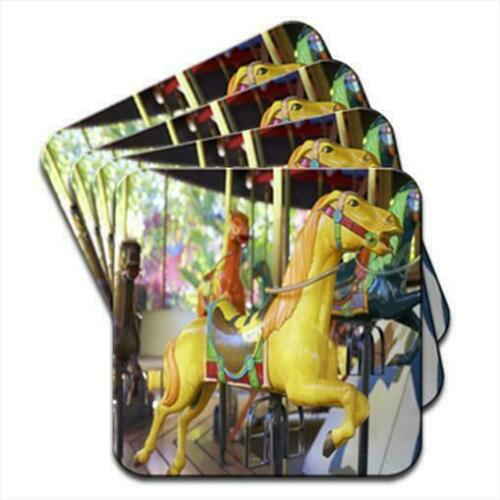 Tableware, Serving & Linen Horse On Merry Go Round At Fairground Set of 4 Coasters Home, Furniture & DIY