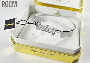 Juicy-Couture-PAVE-JUICY-BANGLE-silver-color-with-box