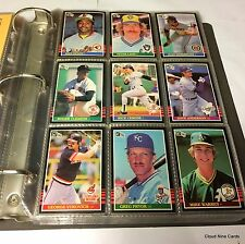 1985 Donruss complete set in binder (660 cards) Roger Clemens Puckett RC NMMT-MT