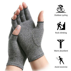 Hand-Arthritis-Gloves-Joint-Pain-Relief-Symptom-Therapy-Open-Fingers-Compression