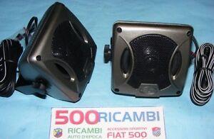 FIAT-500-F-L-R-126-COPPIA-CASSE-CAR-AUDIO-ALTOPARLANTI-AUTORADIO-ESTERNE-80W