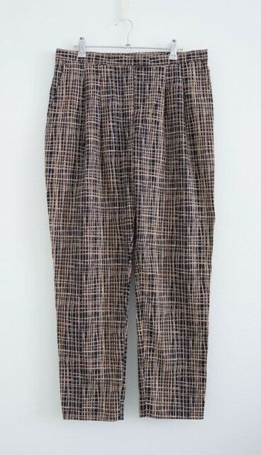 Hof115  COS Trousers Baumwolle Pattern Print Plaid Check Print Trousers 38 UK 12