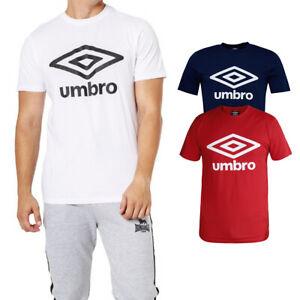 T-Shirt-Uomo-Umbro-Maglia-Mezza-Manica-Girocollo-Slim-Casual-Cotone-Vari-Colori
