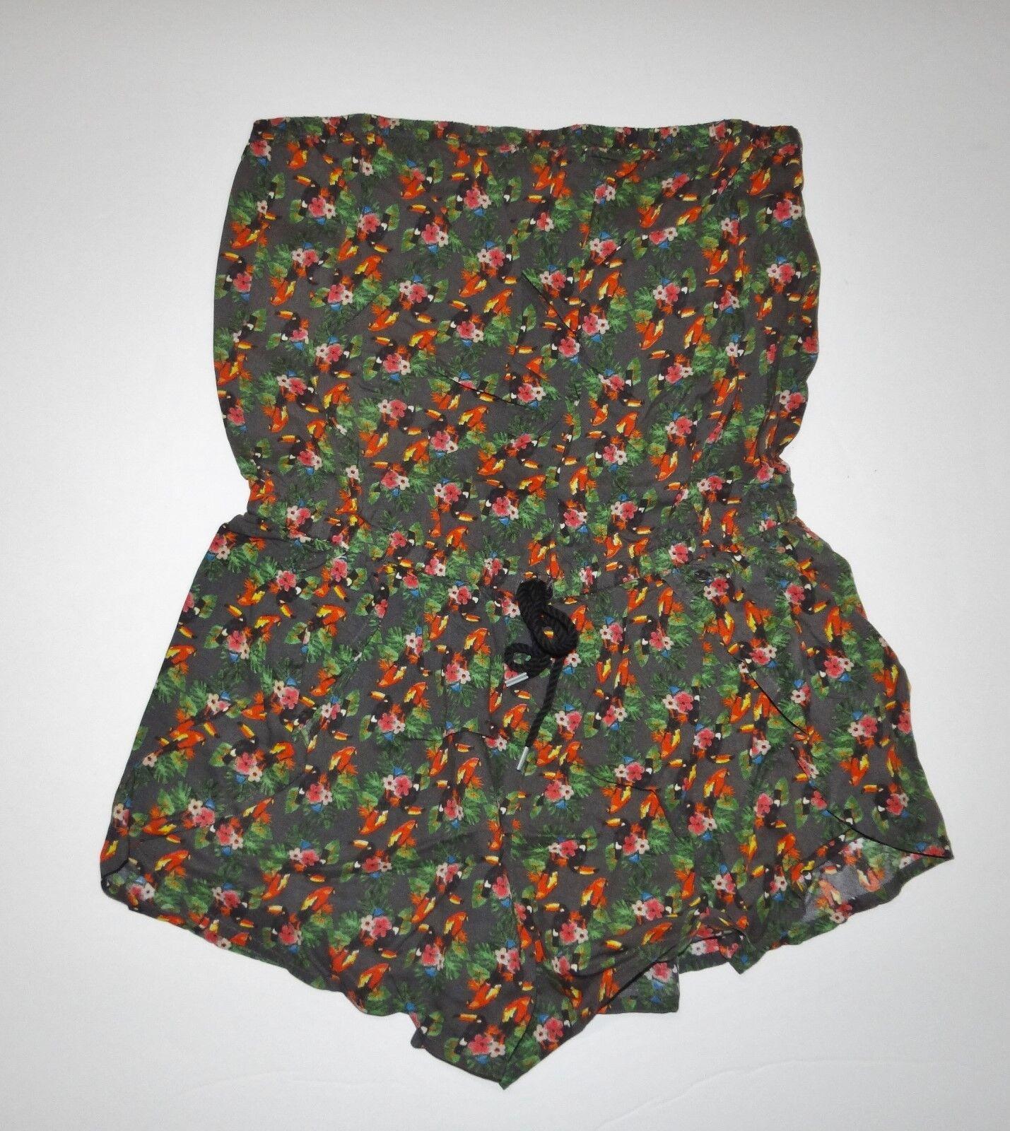 New Vans Womens Mars Viscose Romper Shorts Size Small