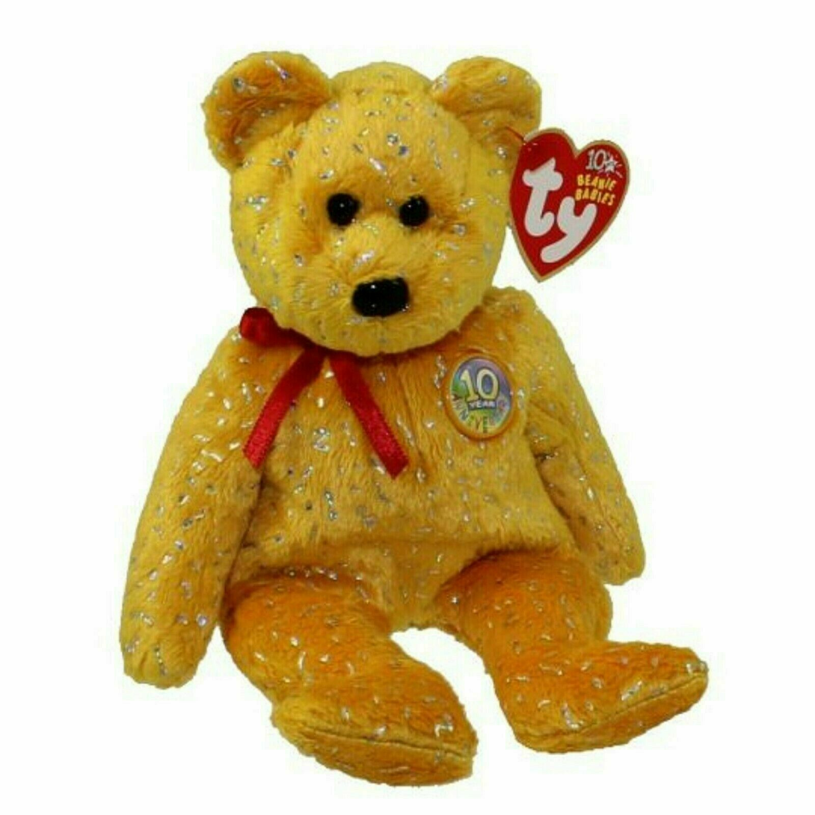 MWMT for sale online Ty 2003 Decade The 10th Anniversary Bear Blue Beanie Baby