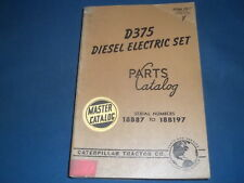Cat Caterpillar D375 Diesel Electric Set Generator Parts Book Manual Sn 18b
