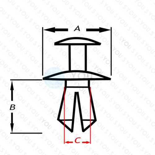 NEU 20 x YOU.S Original Türverkleidung Befestigungsclips für OPEL 13252118
