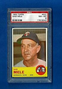 1963-TOPPS-BASEBALL-531-SAM-MELE-PSA-8-NM-MT-HIGH-NUMBER-MINNESOTA-TWINS