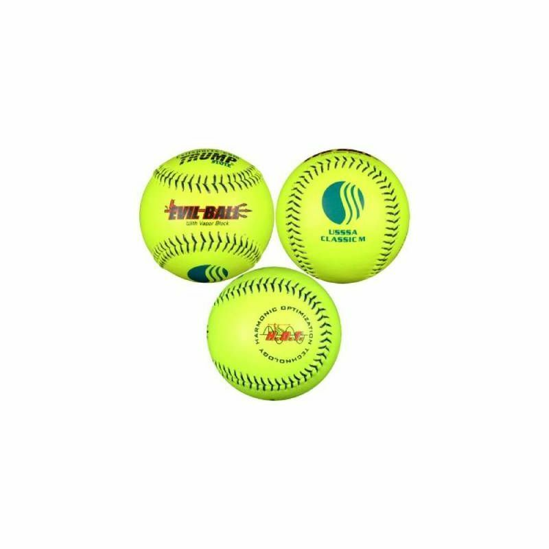 Trump Evil Classic M USSSA 40 325 Leather Softball (Sold by the Dozen)
