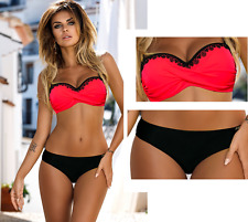 201710/M Bikini MARITA Push-up Neon Red Black High Quality GABBIANO New