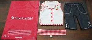 NEW American Girl Doll MARYELLEN PLAY OUTFIT Cherries Gingham 1950s