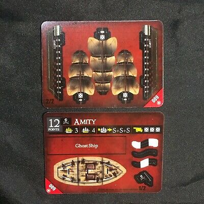 """Unpunched NEW! #009 /""""AMITY/"""" Ghost Ship Pirates of the Crimson Coast CSG"""