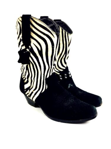 Zebra Cowboy Boots Women's Shoes Women's Boots Hee