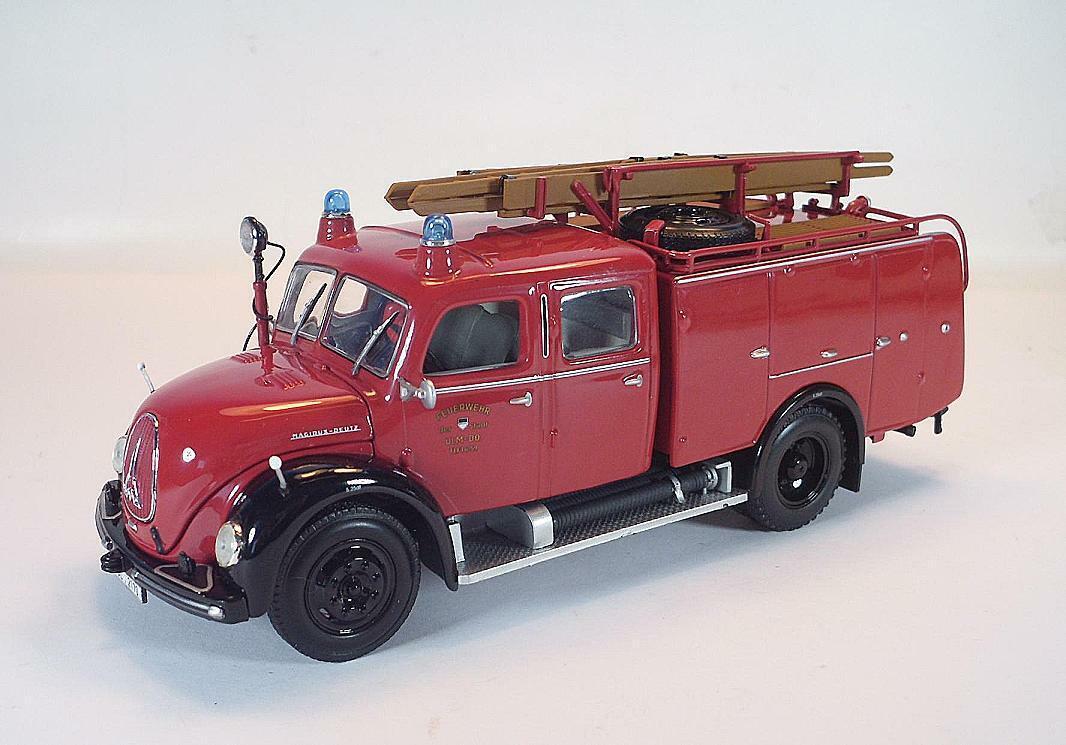 Minichamps 1 43 Magirus Deutz Merkur TLF 16 (1959) Feuerwehr Ulm OVP