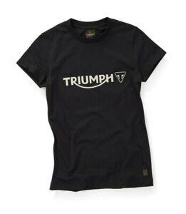 Triumph-Motorcycles-Melrose-Ladies-Tee-Jet-Black-T-Shirt-NEW-MTSS20057