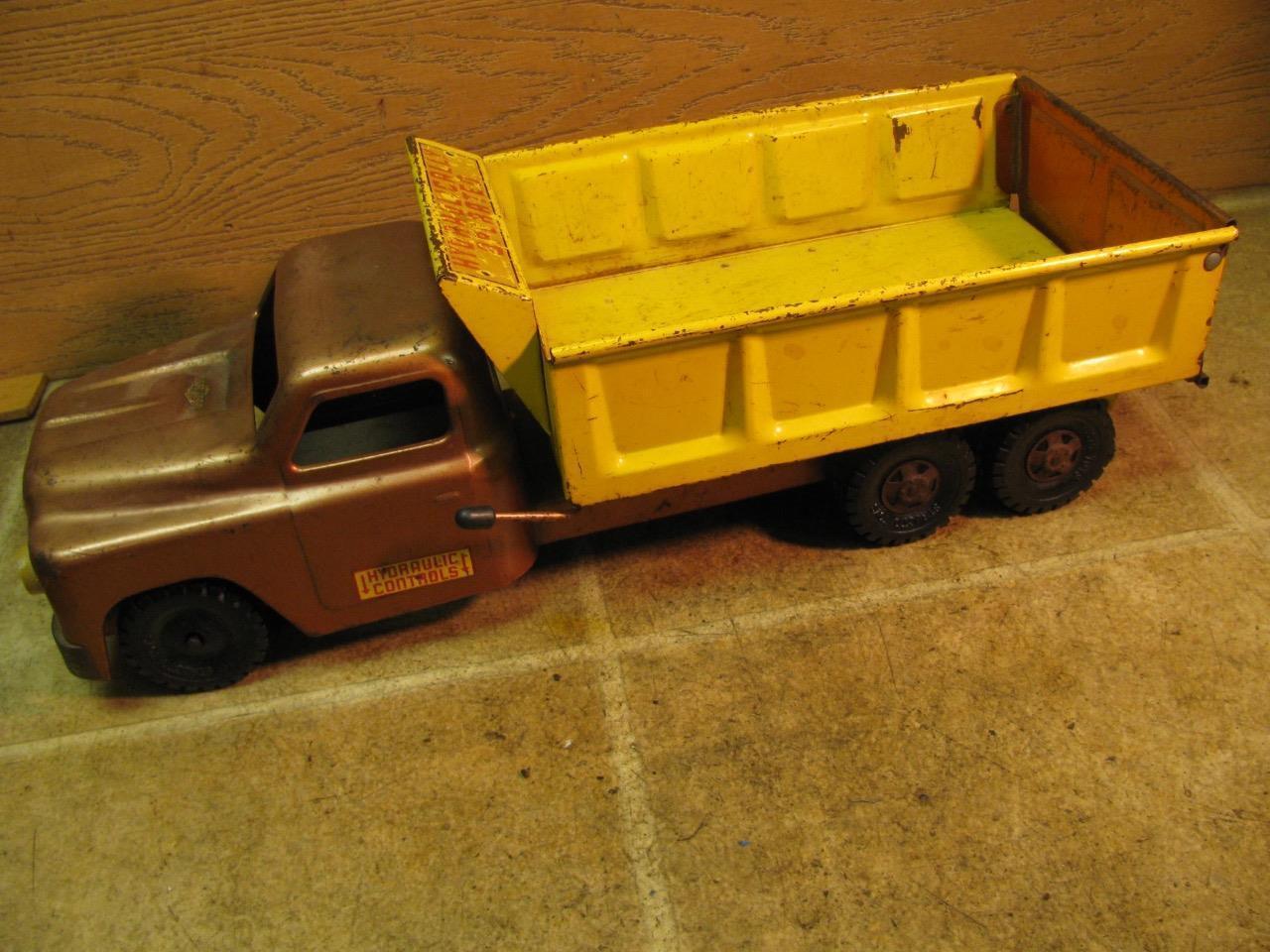 Vintage Structo à Commande Hydraulique Essieu Tandem camion benne 20  Long