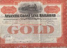 ATLANTIC COAST LINE RAILROAD........GOLD MORTGAGE BOND PAYABLE 1952