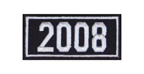 2008 Biker Patch ricamate anni numero anno di nascita BIRTH year ROCKER MOTO MC