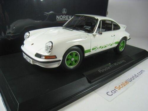PORSCHE 911 CARRERA RS TOURING 1973 1 18 NOREV (bianca  verde)