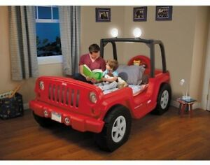 Jeep Toddler Bed Twin Boys Storage LED Lights Kids Car