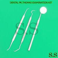Examination Kit Pk.thomas Dental Waxing Carver Kit Set Of 3 Lab Pr-0042