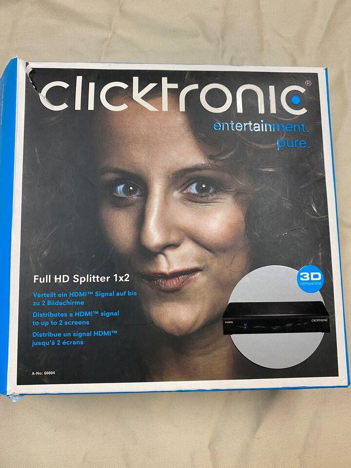 Full HD Splitter 1x2, Clicktronic, Perfekt