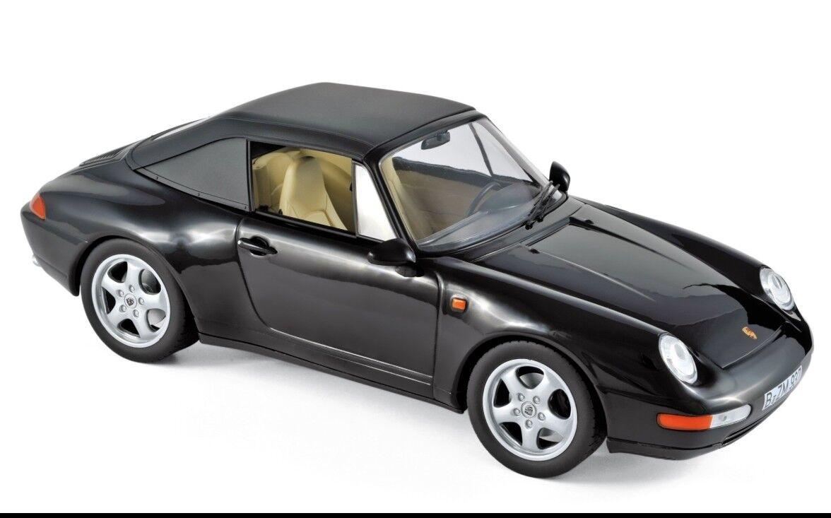 Norev Porsche 911 Cabriolet 1994 1 18 nero