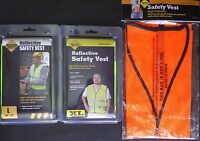 High Visibility Safety Vests Neon Yellow Or Orange Select: Color Size Type