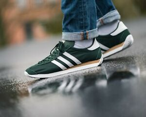 Details about BNWB & Genuine adidas originals ® Country OG Trainers in Green & White UK Size 8