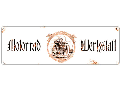 Plaque métallique Shabby tôle bouclier Dekoschild moto d/'atelier Bouclier Cadeau