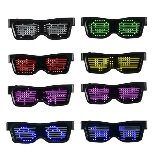 LED Glow Glasses Mobile Bluetooth App Steuerung Geeignet für Party Nightclub