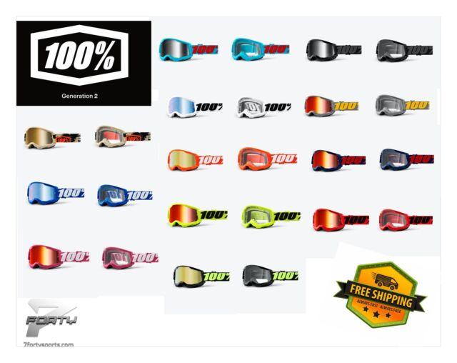100/% ACCURI MIRROR LENS Goggle MOTOCROSS MTB BMX OCCHIALI SPECCHIO DOWNHILL ENDURO