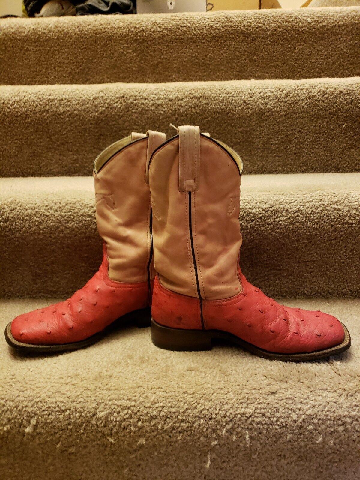 Auténtico Mujer Avestruz Dyeable botas talla 8 para Mujer Auténtico e3211e