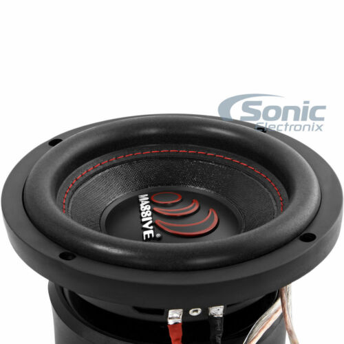 "Massive Audio GTX64 500 Watts Max 6/"" Inches Dual 4 Ohm Car Audio Subwoofer New"