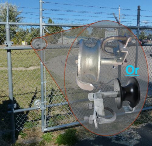 """2/"""" Frame x 1-5//8/"""" Track Pipe Wheel Chain Link Rolling Gate NYLON TRACK ROLLERS"""