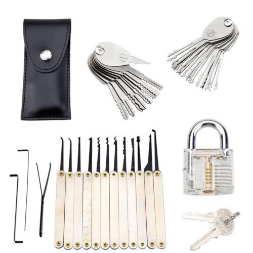 Unlocking Lock Pick Practice Set Key Extractor Transparent Padlock Tool