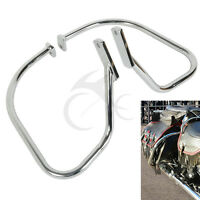 Chrome Saddlebag Guard Rail Crash Bar For Harley Softail Heritage Springer Flsts
