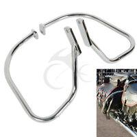 Chrome Saddlebag Guard Rail Crash Bar For Harley Softail Heritage Springer Flsts