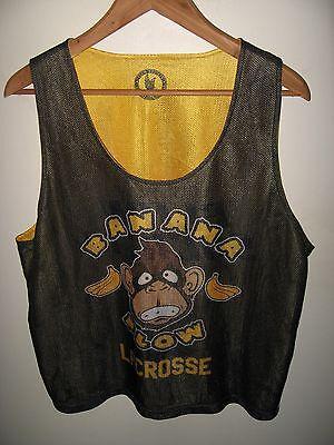 Flow Society Tank - Banana Flow Reversible Mesh Lacrosse Sport Jersey Shirt L/XL