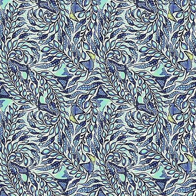 By 1//2 Yard ~ Tula Pink ZUMA ~ Sea Stallion in Aquamarine ~ Free Spirit Fabric