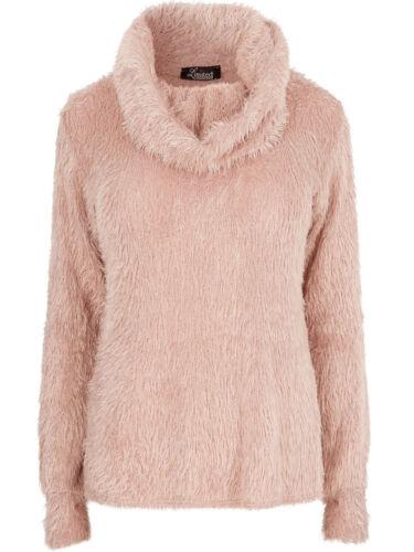 Y0URS PINK Cowl Neck Fluffy Eyelash Jumper Plus Size 16 to 30//32