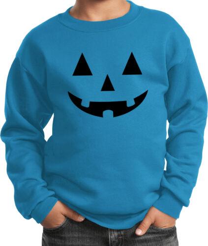 Kids Halloween Black Jack O Lantern Sweat Shirt